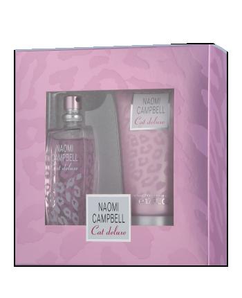 Naomi Campbell Cat Deluxe, toaletní voda 15ml + tělové mléko 50ml, Dárková sada