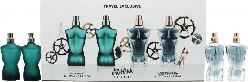 Jean Paul Gaultier Le Male, toaletní voda 2 x 7ml Le Male + parfémovaná voda 2 x 7ml Le Male Essence de Parfum, Dárková sada