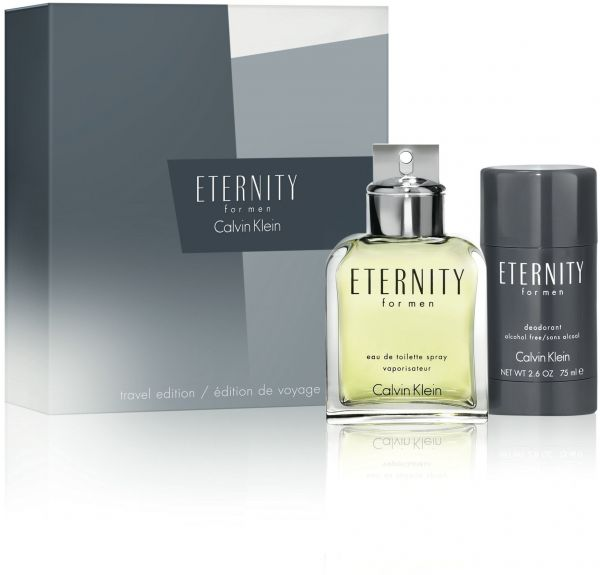 Calvin Klein Eternity for Men, toaletná voda 100ml + deostick 75ml, Dárková sada