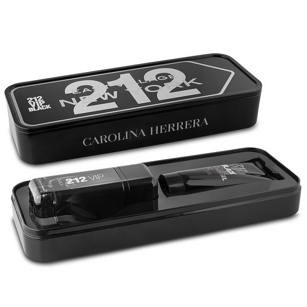 Carolina Herrera 212 VIP Men Black, Dárková sada, Pánská vůně, parfémovaná voda 100ml + sprchový gel 100ml (Metal Box)
