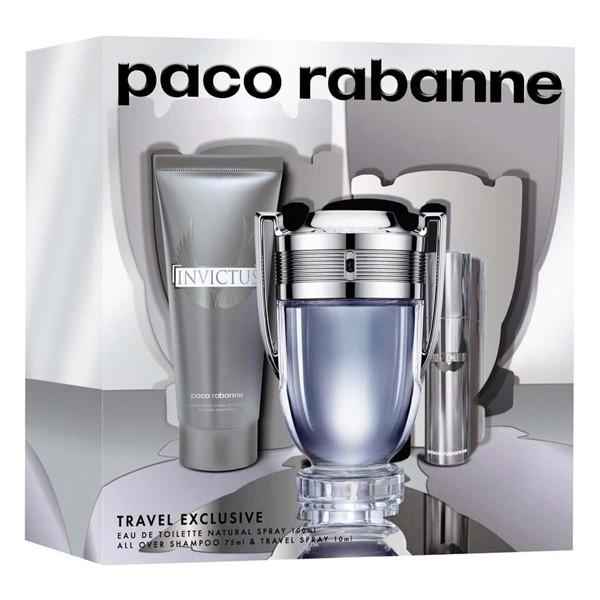 Paco Rabanne Invictus, toaletní voda 100ml + toaletní voda 10ml + sprchový gel 75ml, Dárková sada