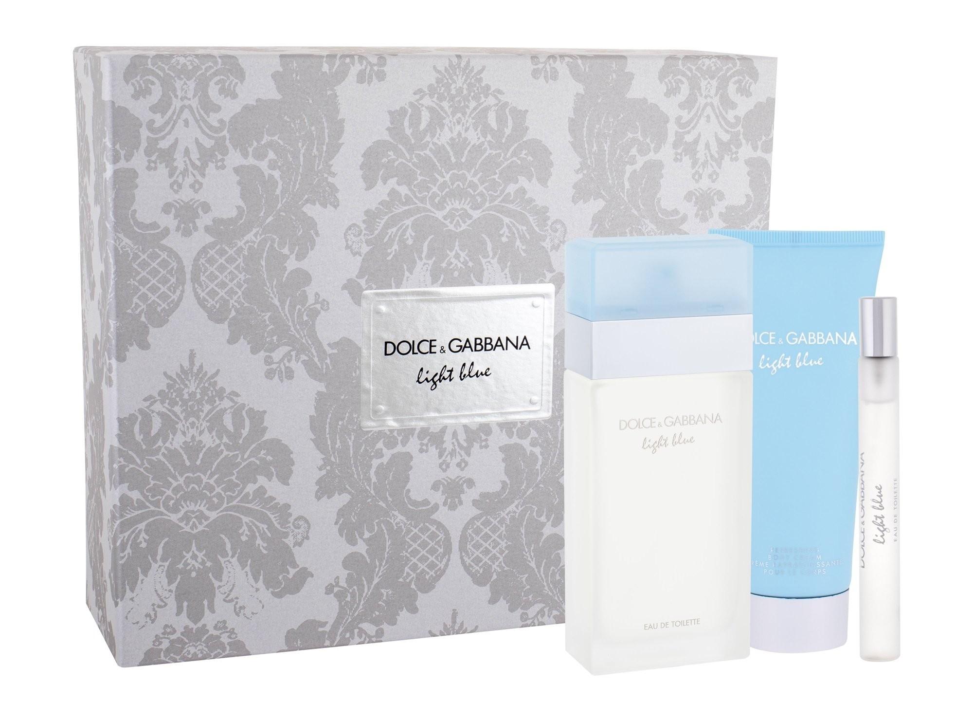 Dolce & Gabbana Light Blue, toaletní voda 100ml + tělový krém 75ml + toaletní voda 10ml, Dárková sada
