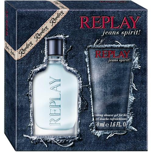 Replay Jeans Spirit! for Him, toaletní voda 30ml + sprchový gel 50ml, Dárková sada