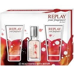 Replay Your Fragrance! for Her, toaletní voda 20ml + sprchový gél 50ml + deodorant 50ml, Dárková sada
