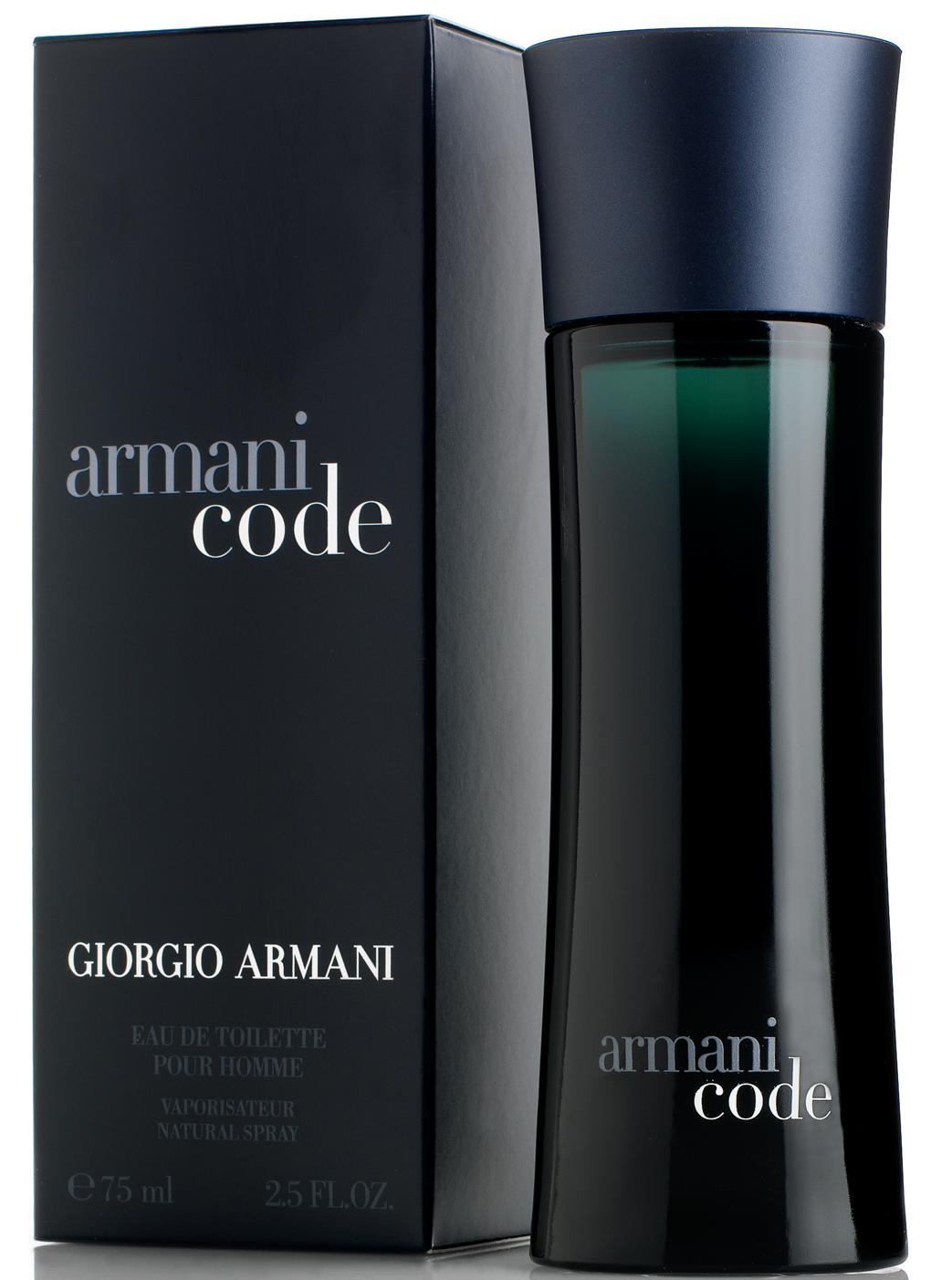 Giorgio Armani Black Code, 75ml, Toaletní voda