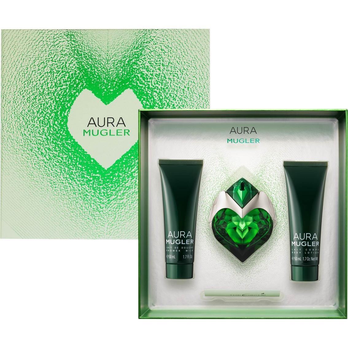 Thierry Mugler Aura, parfémovaná voda 30ml + tělové mléko 50ml + sprchový gel 50ml, Dárková sada