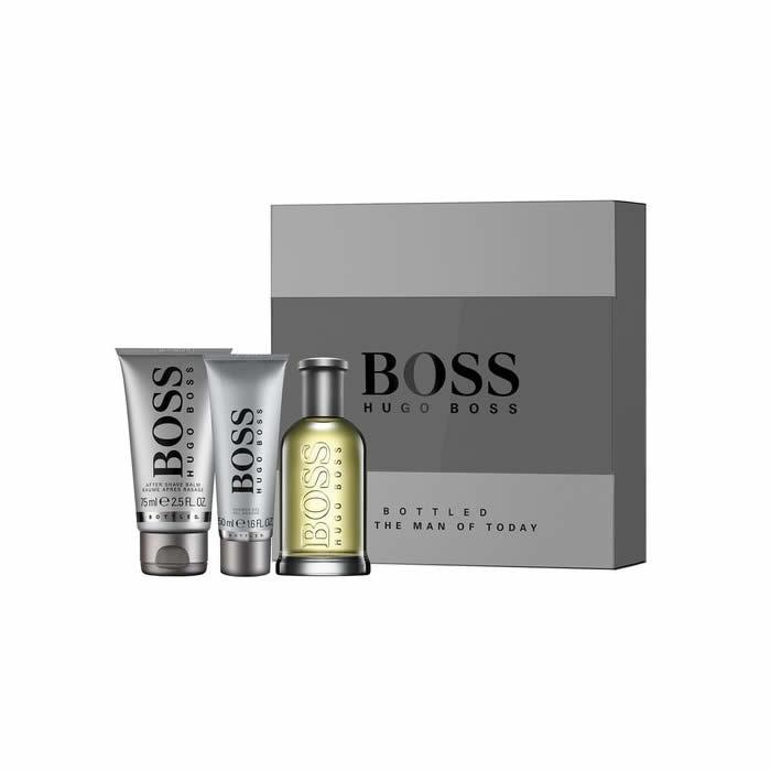 Hugo Boss No.6 Bottled, toaletní voda 100ml + sprchový gel 50ml + balzam po holení 75ml, Dárková sada