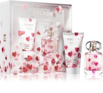 Escada Celebrate N.O.W., parfémovaná voda 30ml + tělové mléko 50ml, Dárková sada
