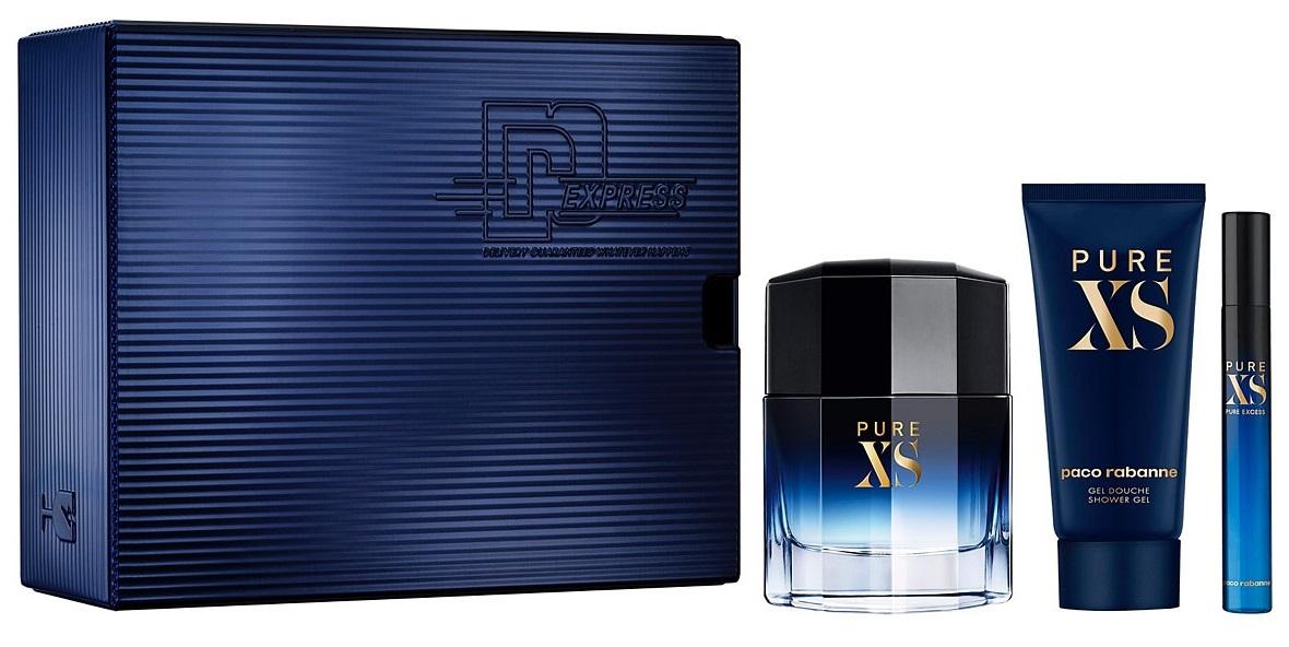 Paco Rabanne Pure XS, toaletní voda 50ml + toaletní voda 10ml + sprchový gel 100ml, Dárková sada