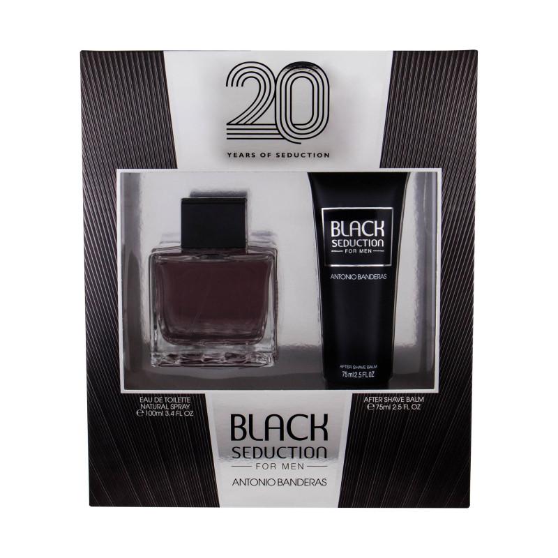 Antonio Banderas Seduction in Black, toaletní voda 100ml + balzám po holení 75ml, Dárková sada
