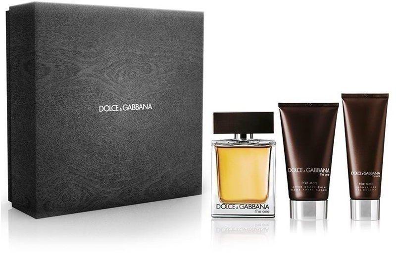Dolce & Gabbana The One for Men, toaletná voda 100ml + balzám po holení 50ml + sprchový gel 50ml, Dárková sada