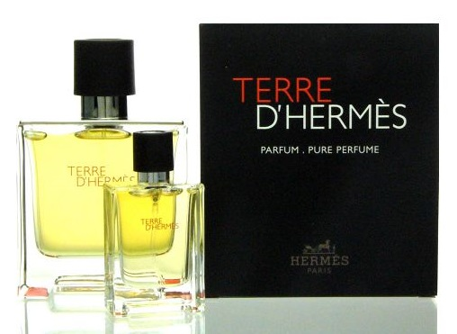 Hermes Terre D´Hermes Parfum, parfém 75ml + parfém 12.5ml, Dárková sada