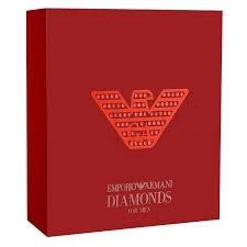 Giorgio Armani Diamonds for Men, toaletní voda 75ml + balzam po holení 50ml + sprchový gel 50ml, Dárková sada
