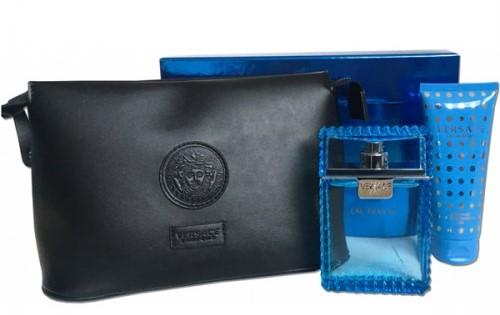 Versace Man Eau Fraiche, Dárková sada, toaletní voda 100ml + sprchový gel 100ml + kosmetická taška, Pánska vôňa