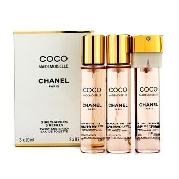 Chanel Coco Mademoiselle, Toaletní voda, Dámská vůně, 3 x 20ml (3 x náplň)