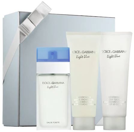 Dolce & Gabbana Light Blue, toaletní voda 100ml + tělové mléko 100ml + sprchový gel 100ml, Dárková s