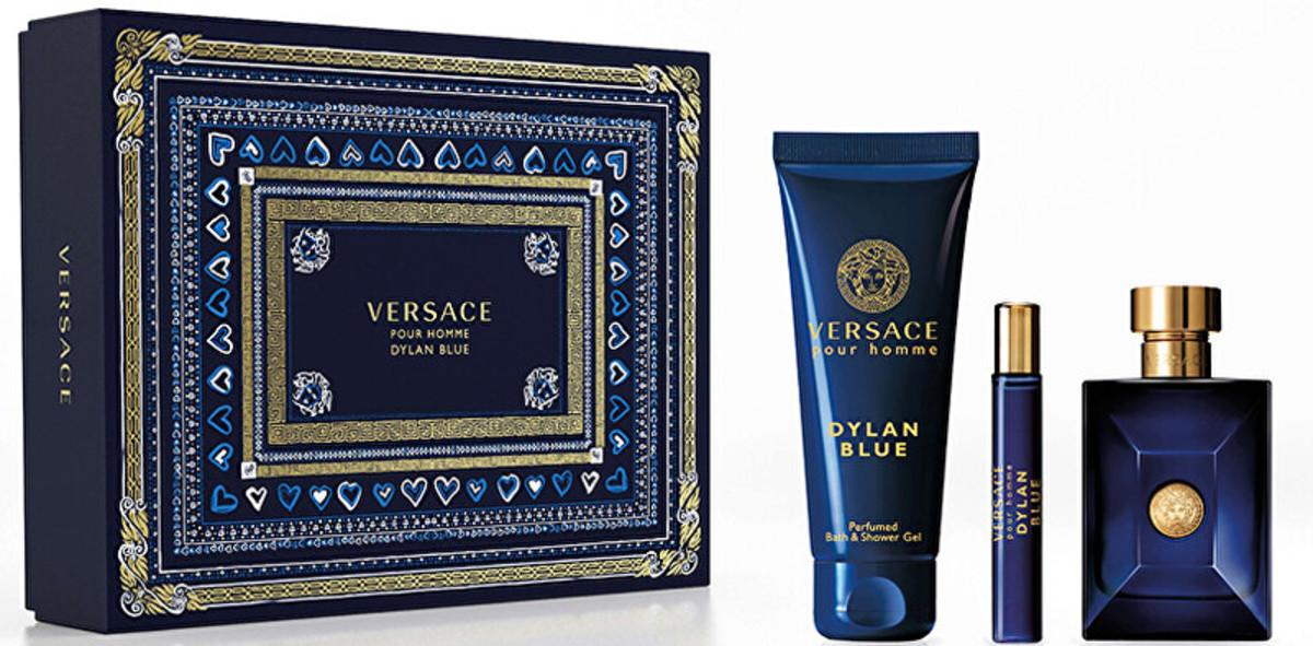 Versace Dylan Blue, toaletní voda 100ml + sprchový gel 150ml + toaletní voda 10ml, Dárková sada