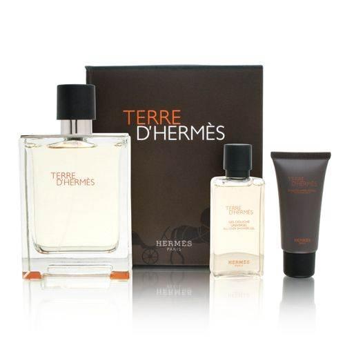 Hermes Terre D´Hermes, Dárková sada, toaletní voda 100ml + sprchový gel 40ml + balzám po holení 15ml , Pánska vôňa