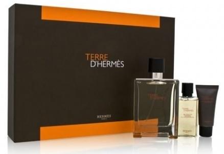 Hermes Terre D´Hermes, Dárková sada, toaletní voda 100ml + toaletní voda 12.5ml + balzám po holení 40ml, Pánska vôňa