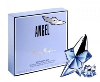 Thierry Mugler Angel, Dárková sada, parfémovaná voda 25ml + parfémovaná voda 5ml (plnitelný), Dámska vôňa