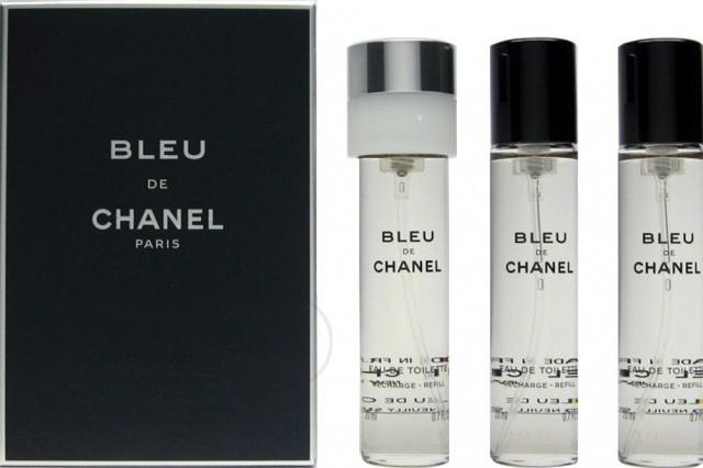 Chanel Bleu de Chanel, Toaletní voda, Pánská vůně, 3x20ml (3x náplň)