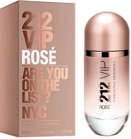 Carolina Herrera 212 VIP Rose, 80ml, Parfémovaná voda