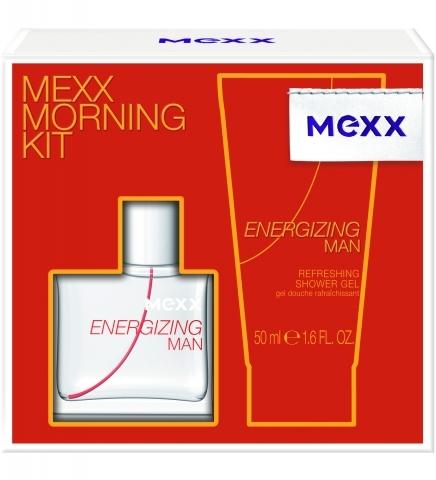 Mexx Energizing Man, Dárková sada, Pro muže, toaletní voda 30ml + sprchový gel 50ml