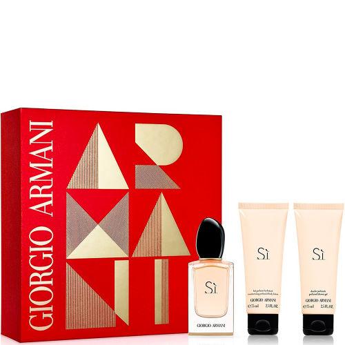 Giorgio Armani Si, parfémovaná voda 50ml + tělové mléko 75ml + sprchový gel 75ml, Dárková sada