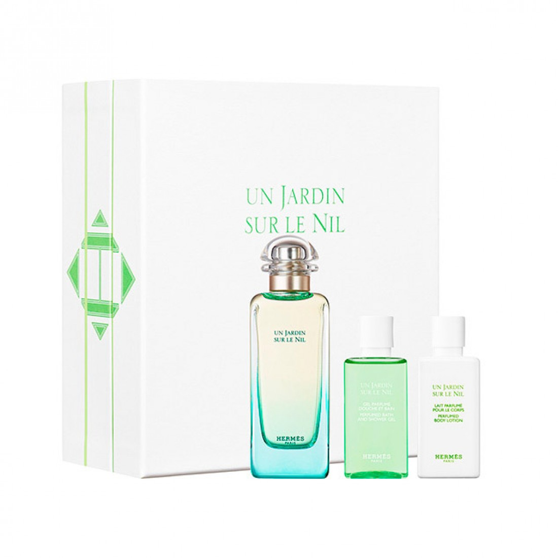 Hermes Un Jardin Sur Le Nil, toaletní voda 100ml + tělové mléko 40ml + sprchový gel 40ml, Dárková sada