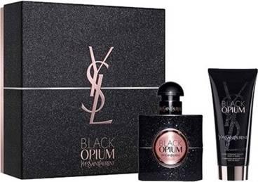 Yves Saint Laurent Opium Black, Dárková sada, parfémovaná voda 30ml + tělové mléko 50ml, Dámska vôňa