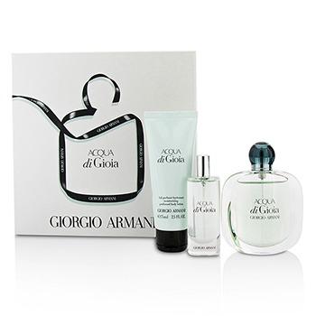 Giorgio Armani Acqua di Gioia, parfémovaná voda 50ml + parfémovaná voda 15ml + tělové mléko 75ml, Dárková sada