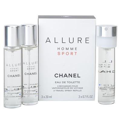 Chanel Allure Homme Sport, Toaletní voda, 3 x 20ml (3 x náplň), Pánska vôňa
