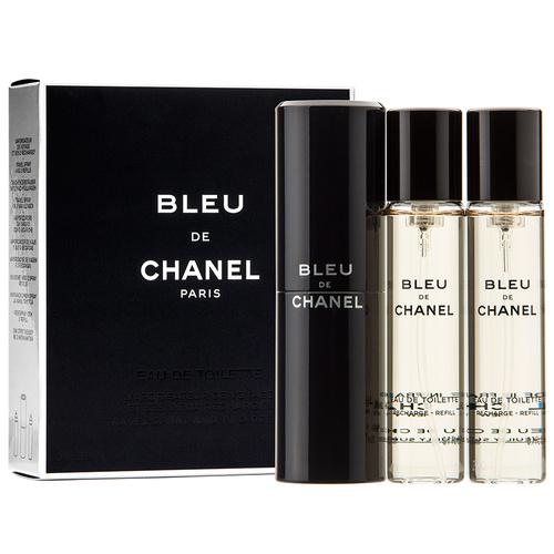 Chanel Bleu de Chanel, Toaletní voda, Pánská vůně, 3x20ml (1x plnitelná + 2x náplň)