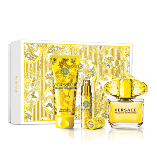 Versace Yellow Diamond, Dárková sada, toaletní voda 90ml + tělové mléko 100ml + toaletní voda 10ml, Dámska vôňa