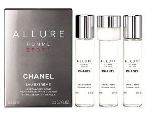 Chanel Allure Homme Sport Eau Extreme - náplň, Toaletní voda, 3x20ml, Pánska vôňa
