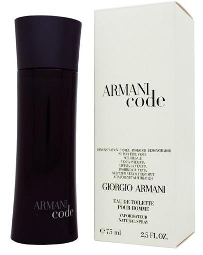 Giorgio Armani Black Code, 75ml, Toaletní voda - Tester