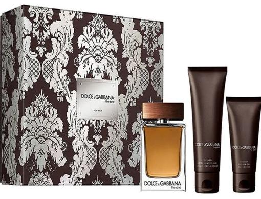 Dolce & Gabbana The One for Men, toaletná voda 100ml + balzám po holení 75ml + sprchový gel 50ml, Dárková sada