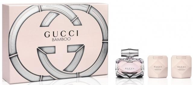 Gucci Bamboo, Dárková sada, parfémovaná voda 75ml + tělové mléko 100ml + sprchový gel 100ml , Dámska vôňa