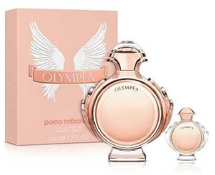Paco Rabanne Olympéa, Dárková sada, Dámska vôňa, parfémovaná voda 80ml + parfémovaná voda 6ml