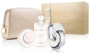 Bvlgari Omnia Crystalline, toaletní voda 65ml + tělové mléko 40ml + mydlo 75g + kabelka, Dárková sada