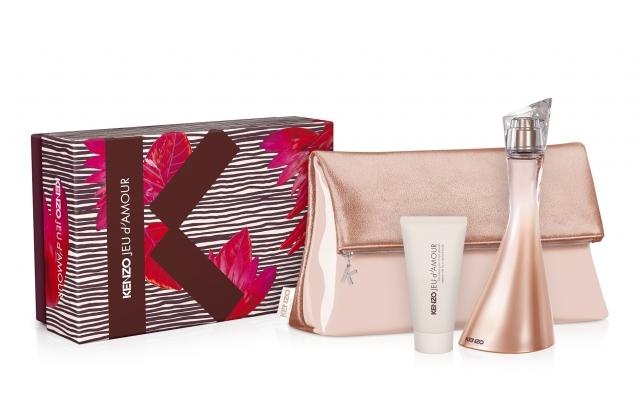 Kenzo Jeu d´Amour, Dárková sada, Dámska vôňa, parfémovaná voda 100ml + tělový krém 50ml + kabelka