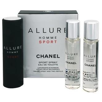 Chanel Allure Homme Sport, Toaletní voda, 3x20ml (1x plniteľná + 2x náplň), Pánska vôňa