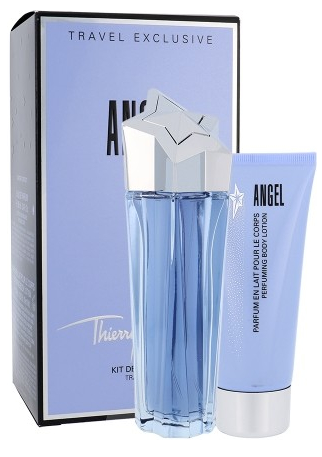 Thierry Mugler Angel, Dárková sada, parfémovaná voda 100ml + tělové mléko 100ml , Dámska vôňa