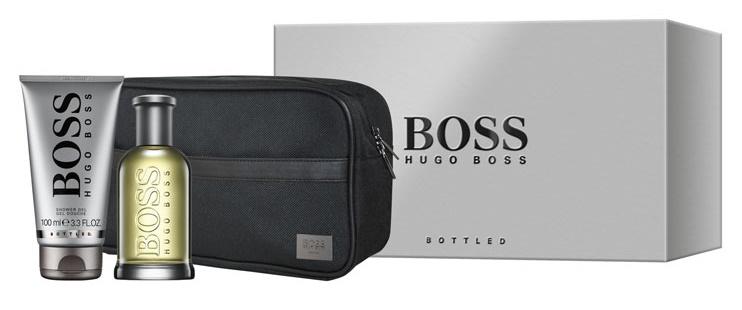 Hugo Boss No.6 Bottled, Dárková sada, toaletní voda 100ml + sprchový gel 100ml + kosmetická taška, Pánska vôňa
