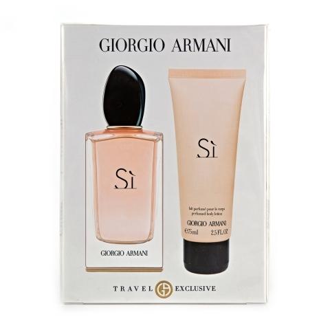 Giorgio Armani Si, parfémovaná voda 100ml + tělové mléko 75ml (Travel set), Dárková sada