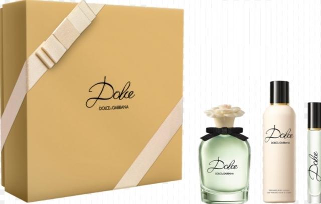 Dolce & Gabbana Dolce, parfémovaná voda 75ml + tělové mléko 100ml + parfémovaná voda 7.4ml, Dárková sada