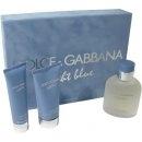 Dolce & Gabbana Light Blue pour Homme, Dárková sada, toaletná voda 125ml + voda po holení 75ml + sprchový gel 50ml, Pánska vôňa