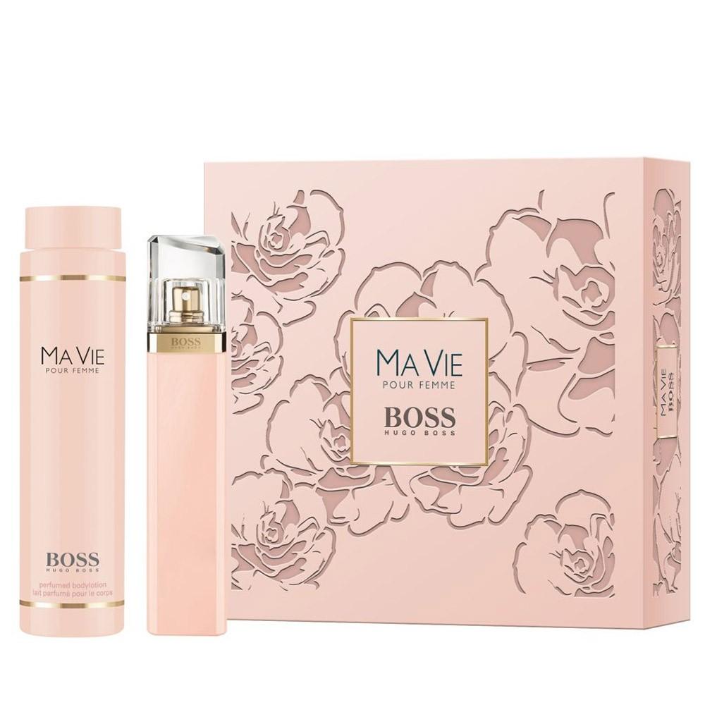 Hugo Boss Ma Vie Pour Femme, parfémovaná voda 75ml + tělové mléko 200ml, Dárková sada