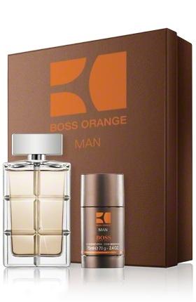 Hugo Boss Orange Man, Dárková sada, toaletná voda 100ml + deostick 75ml, Pánska vôňa