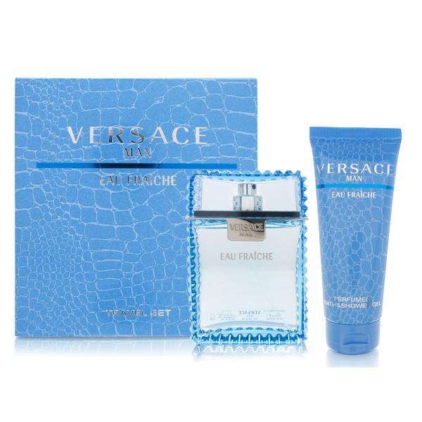 Versace Man Eau Fraiche, Dárková sada, toaletní voda 100ml + sprchový gel 100ml, Pánska vôňa